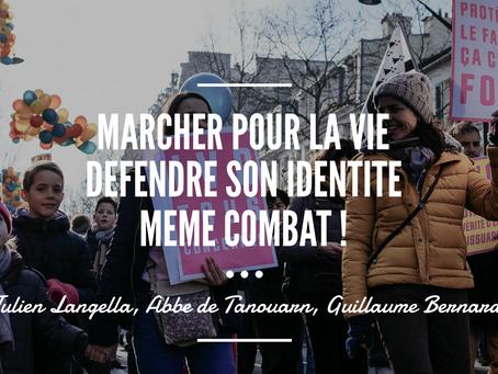 Soirée «marcher pour la vie défendre son identité même combat !»