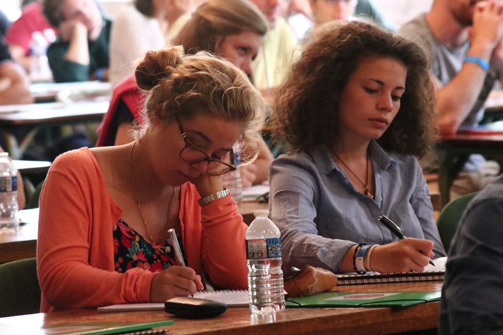étudiantes de l'universtité d'été cathol