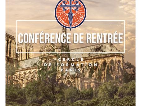 Conférence de rentrée à Paris