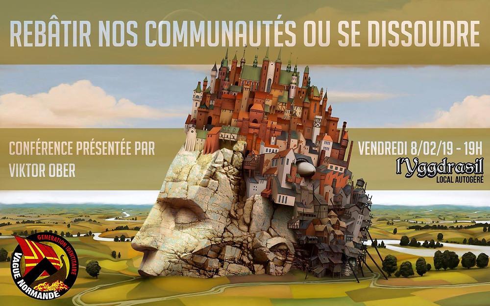 """Conférence """"Rebâtir nos communautés ou se dissoudre"""" présentée par Viktor Ober de l'association Academia Christiana"""