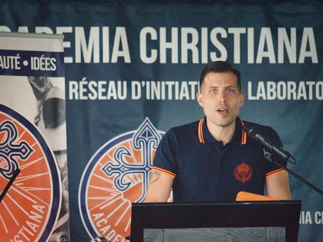 Communiqué : IXème édition de l'université d'été d'Academia Christiana