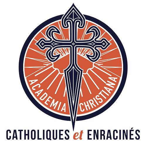 Autocollants carrés - Catholiques et enracinés (x 50)