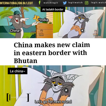 China claims new border in bhutan