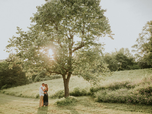 Stacy + Matthew engagement session at Monticello trail