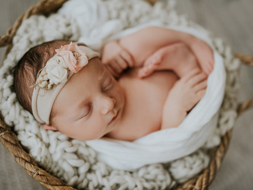 Meet baby Molly - posed / lifestyle newborn session