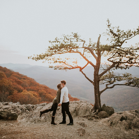 Emily + Remington - BLUE RIDGE ENGAGEMENT AT RAVEN'S ROOST OVERLOOK