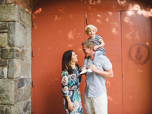 End of summer family session - Georgetown Canal DC