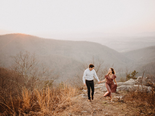 Alex + James engagement - Shenandoah Mountains