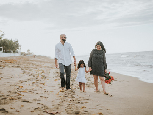 Beach family session in Dominican Republic