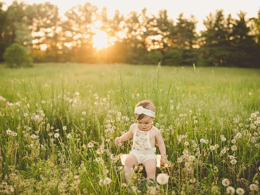 Baby Nina and summer