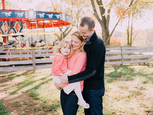 Fall Family session at Lake Fairfax - Reston