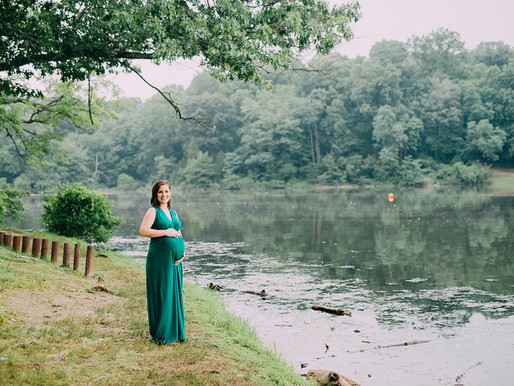Maternity session at Lake Fairfax VA