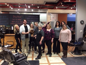 Blowout bootcamp class in salon