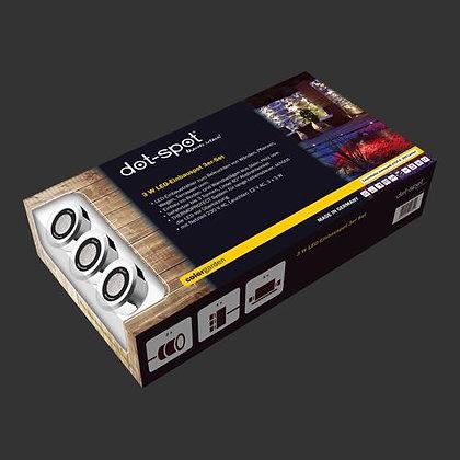 colorgarden LED-Einbauspot 3er Komplettset 230 V / 12 V, 3 W (Art.Nr. 25303)