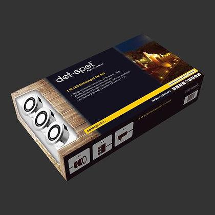 colorgarden LED-Einbauspot 3er Komplettset 230 V / 12 V, 1 W (Art.Nr. 25203)