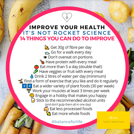 14 things you can do to improve your health