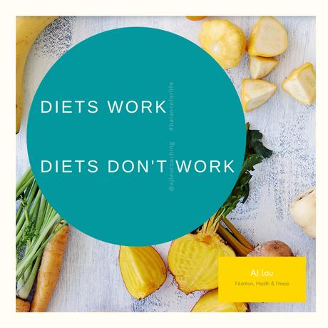 Diets do work. Diets don't work.....
