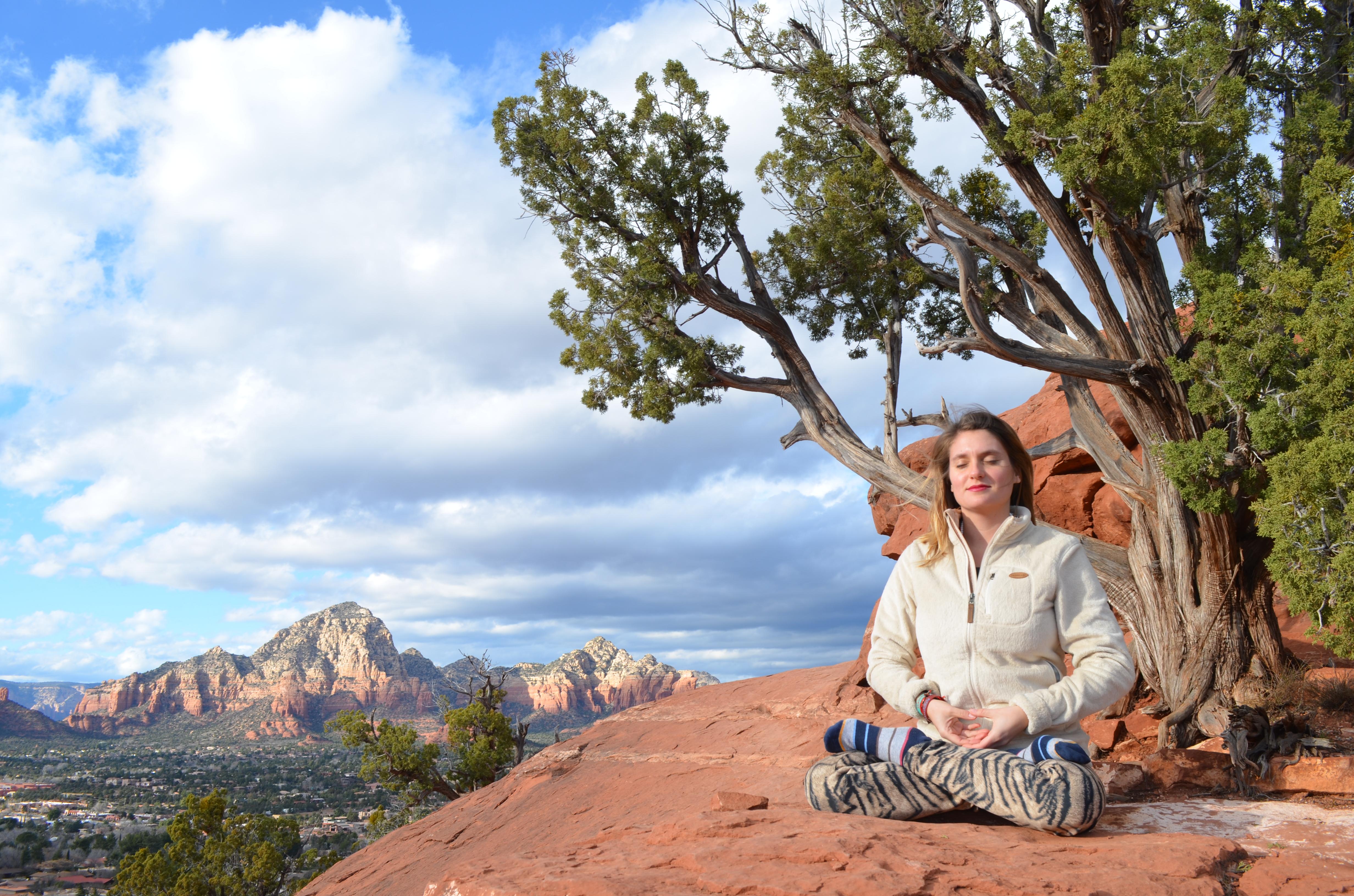 Meditando en Sedona
