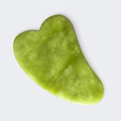 Masážní destička gua sha malá / jadeit / 2. jakost