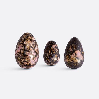 Yoni vajíčka - sada 3 ks / rodonit