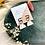 Thumbnail: Wavy Gold Dalmatian Dangle Studs