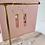 Thumbnail: 24k Gold Plated Translucent Pink Gold Fleck Baton Hoops