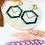 Thumbnail: Gold & Green Hex Clip On Earrings