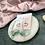 Thumbnail: 24k Gold Plated Marbled Green Half Moon Hoops