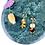 Thumbnail: Clip on Gold Tortoiseshell Disc Earrings