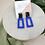 Thumbnail: Bottle Green & Blue Clay Dangle Studs