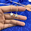Thumbnail: 24k Gold Plated Mother of Pearl Star Hoops