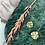 Thumbnail: 24k Gold Plated Hammered Brass Irregular Disc Hoops