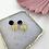 Thumbnail: Dark Marble & Brass Fan Hoops