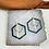 Thumbnail: 24k Gold Plated Bottle Green Triple Charm Hoops