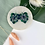 Thumbnail: Silver Plated Large Bottle Green Monstera Hoops