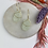 Thumbnail: 24k Gold Plated Pastel Sage Glitter Resin Geo Hoops