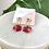 Thumbnail: Red Hexagon & Gold Dangle Studs