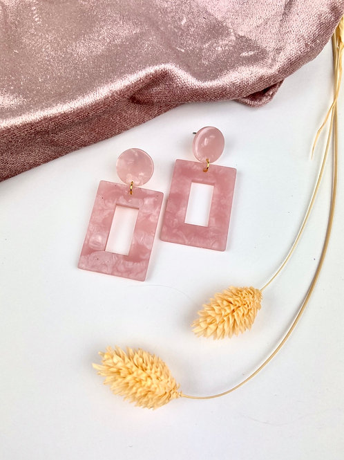 Pink Chunky Retro Dangle & Drop Earrings