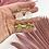 Thumbnail: Pearlescent Brass Sun Dangle Studs