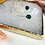 Thumbnail: 24k Gold Plated Mini Green Hexagon Oval Hoops
