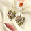 Thumbnail: 24k Gold Plated Marble Monstera Hoops