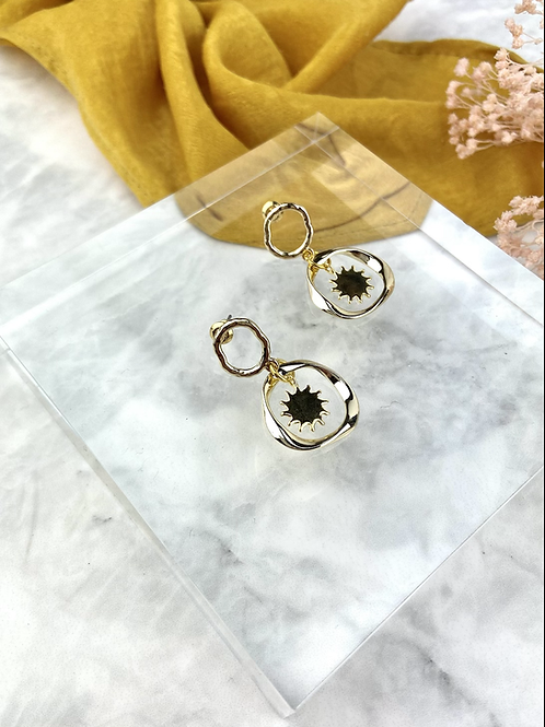 Triple Gold Mini Sun Hoops