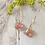 Thumbnail: 24k Gold Plated Marbled Pink Diamond Hoops