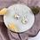 Thumbnail: Silver Plated Peach Marble Disc Hoops