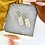 Thumbnail: 24k Gold Plated Shimmer Clay Huggie Hoops