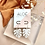 Thumbnail: Silver Plated White Monstera Hoops