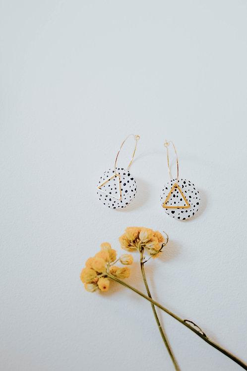 24K Gold Plated Dalmatian Spot Earrings