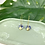 Thumbnail: 24k Gold Plated Marble Blue Disc & Sun Hoops