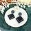 Thumbnail: Black Glitter Geo Dangle & Drop Earrings