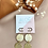 Thumbnail: 24k Gold Plated Cream Marble Fan Hoops